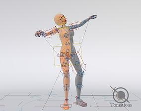 3D model Blender Female Rigged Doll