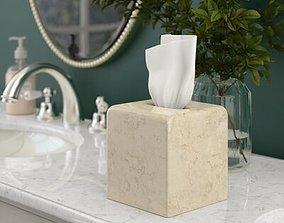 3D Champagne Magwood Tissue Box Cover box