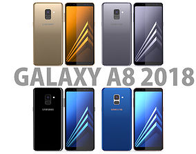 3D Samsung Galaxy A8 2018 All Colors