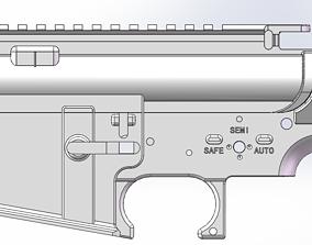 3D print model AIRSOFT AR15 M16 M4 RECEIVER