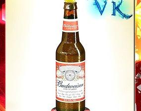 Budweiser Beer Bottle 3D model
