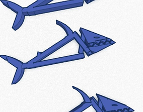 MAKOz shark clips 3D printable model