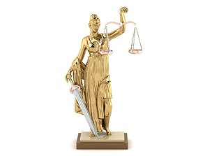3D printable model femida gold statue