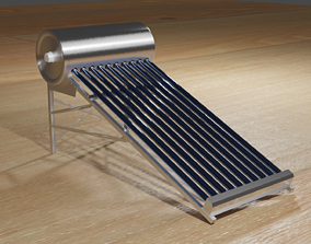 Solar Heater 3D asset