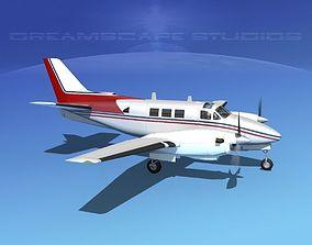 Beechcraft King Air C90 V09 3D model
