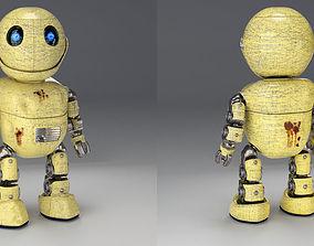 3D Friendly little robot rigged