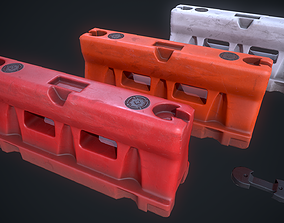 Dirty Plastic barrier 3D model