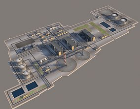 LNG plant and the Oil terminal 3D