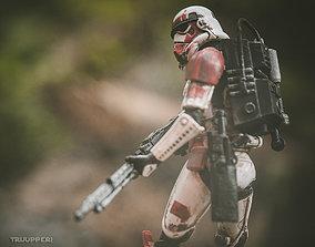 Shocktrooper backpack model for 6 inch figures resin