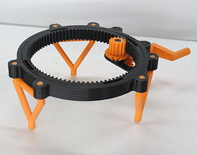 fully-printable Fully 3D-printable turntable