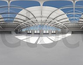 HDRI - Industrial Hangar Hall Interior 5 3D asset