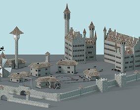 3D asset Game Ready Castle