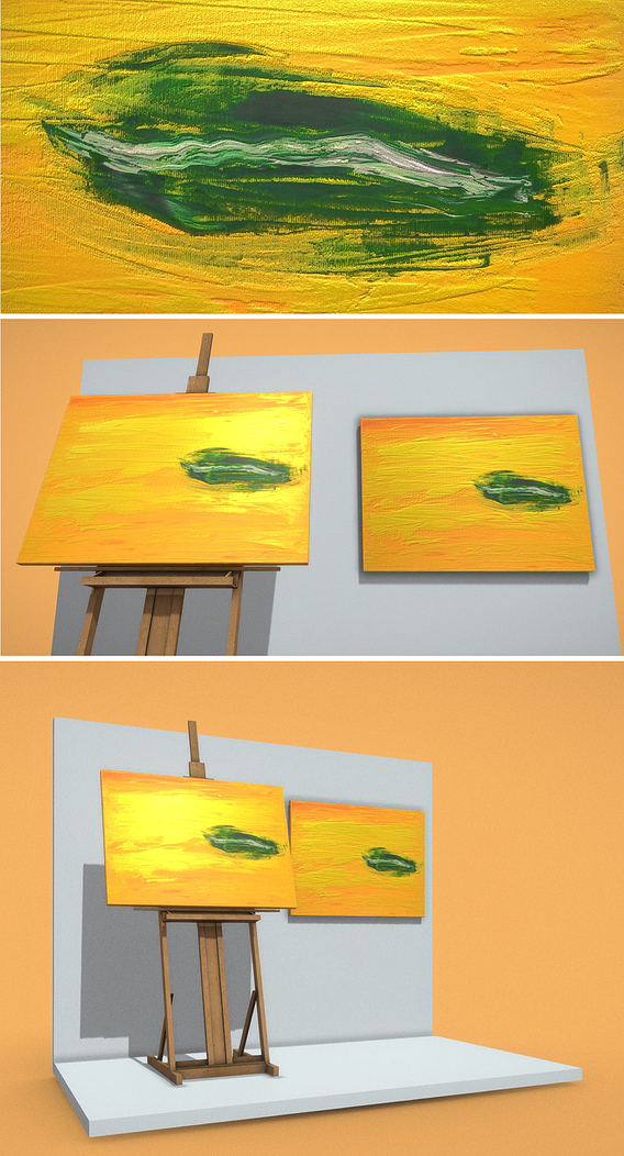 Oil Painting - Green Oasis
