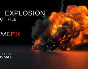 3D model Car Explosion FUMEFX Project File