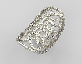 Long finger ring 3D print model