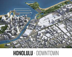 3D model Honolulu - Downtown