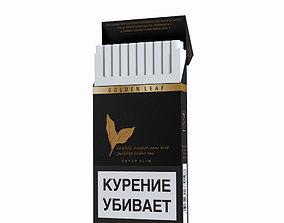 3D model Cigarette Esse Golden leaf