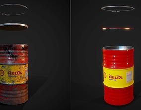 3D model Barrels Shell helix PBR