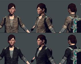 Messenger - Female Survivor Game Model 3D asset realtime