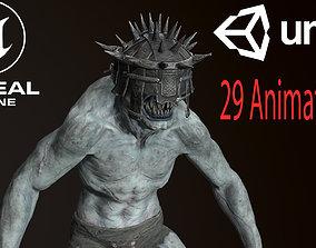 Blind Monster 3D model animated