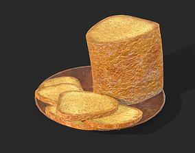 3D model Bread Slices Dish