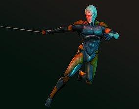 3D asset Gray Fox - Metal Gear Solid