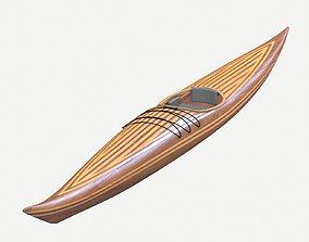3D asset Guillemot kayak V2