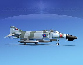 McDonnell Douglas F-4J Phantom II V22 UK 3D