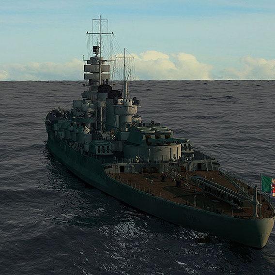 Battleship R.N. Roma 3D