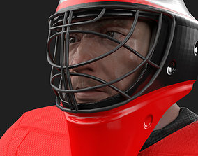 3D asset PBR Game ready hockey goalie model