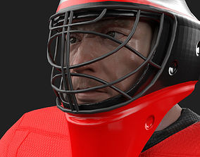 3D asset PBR Game ready hockey goalie model