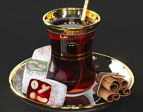 3D model miscellaneous Turkish Tea and Delights