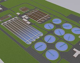 waste Water Waste and Sewage Treatment Plant 3D model