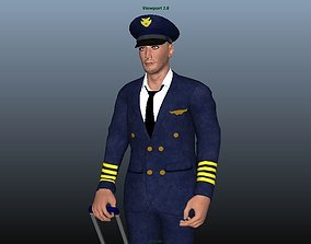 Pilot - Animated 3D model