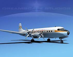 Douglas DC-7C Carribean Charter 3D