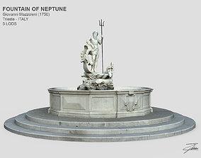 3D asset Fountain of Neptune