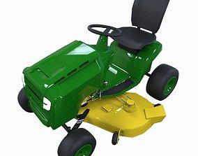 3D asset ride on mower