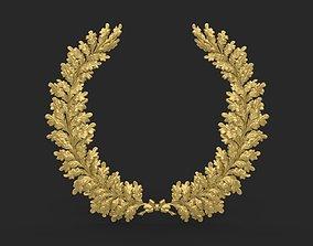 Wreath of oak leaves 3D printable model