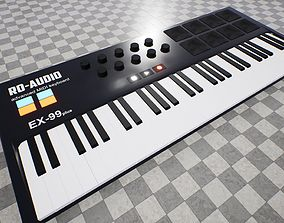 3D asset MIDI Keyboard