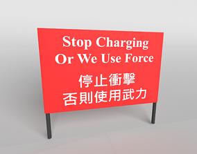 3D asset Hong Kong Warning Flag v1 004