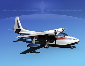 Grumman G-73 Mallard V15 3D model