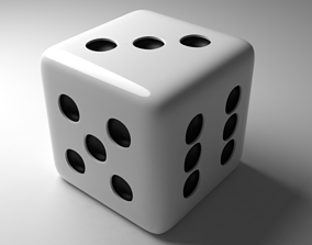 3D model White Dice Low-poly