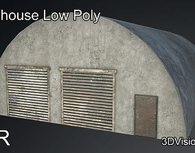 3D model Storehouse Military - Storage Unit - Low Poly