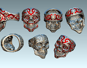 3D printable model Scull ring for enamell