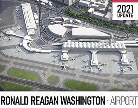 3D asset game-ready Ronald Reagan Washington Airport