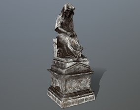 statue 3D model low-poly