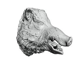 Boars head 2 3D print model