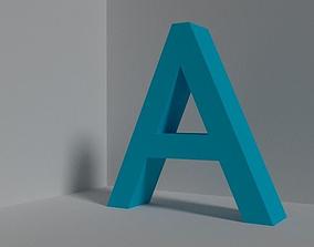 Letter A 3D asset