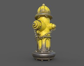 Fire Hydrant water 3D model low-poly PBR