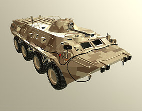 rigged BTR-80 3D Model military